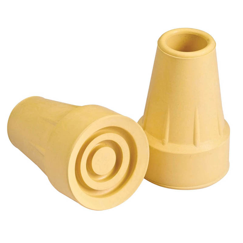 Crutch Tips Large Tan 7/8