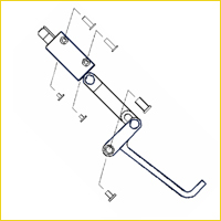 Optima 4 Extended Wall Mounted Flip Down Grab Bar