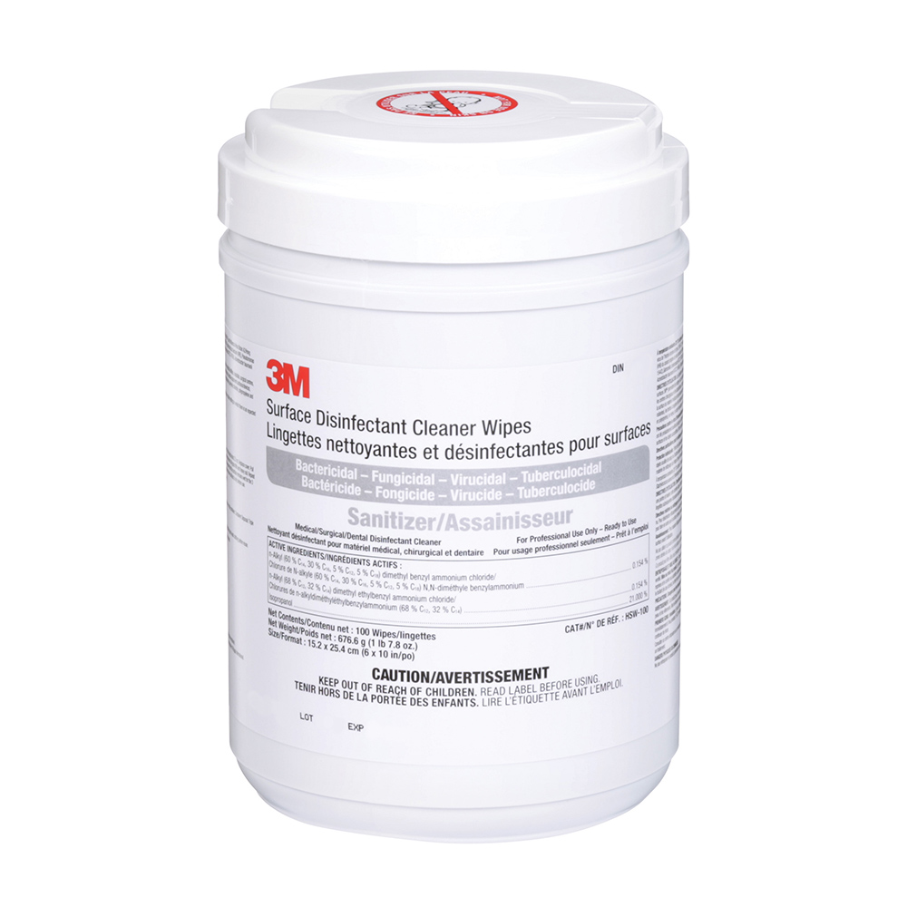 3M Surface Wipes (100)<BR> +++Max 4/order+++