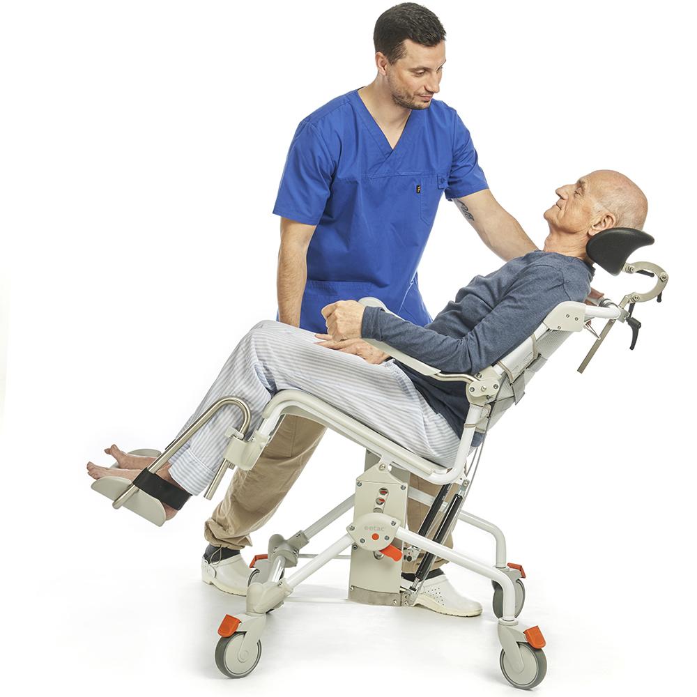 Commode A Langer Angle swift mobile tilt shower and toilet chair | pp4440-01